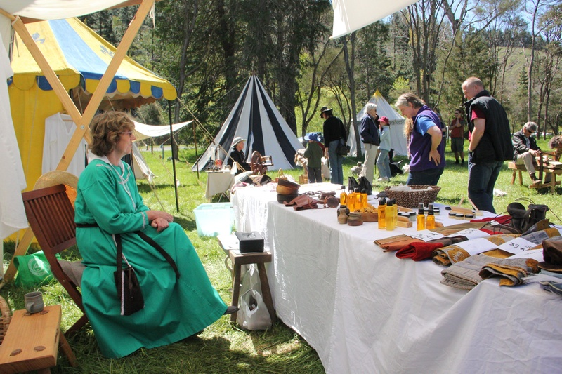 Mediaeval goods for sale at the Nelson Mediaeval Stall